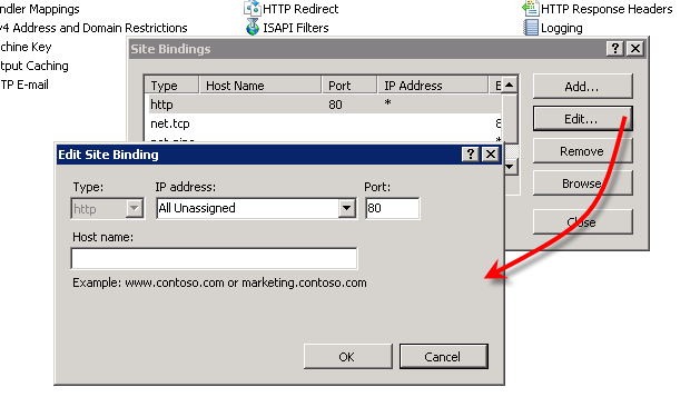 How to access a website By a urlname  : The Official Microsoft IIS